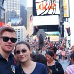Times Square with Annika